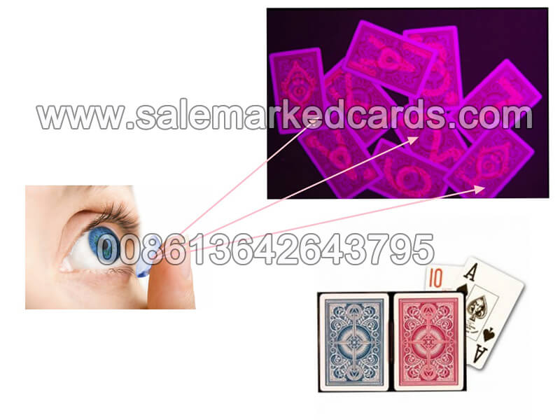 infrared contact lenses seeing marked cards