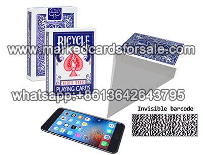 bicycle marked deck and poker analyzer cheating device