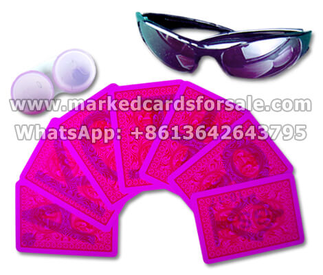 cheating playing cards for contact lenses and sunglasses
